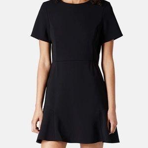 Topshop Flared Crepe Dress